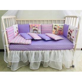 Комплект в кровать «Друзья ТЕДДИ» для кроватки трансформер